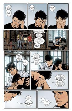 Batman (2016) Issue #33 - OMG! Damian está llorando!! :( Eres el peor Bruce!