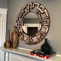 @Jon Holick added our Pierre Mirror to her mantle--looks lovely!