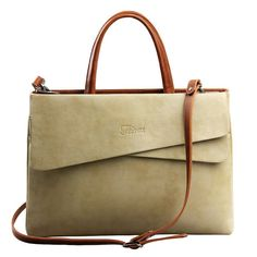 Genuine Leather woman handbag for laptop large ladies office work bags