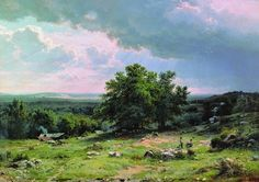 Ivan Shishkin.  This painting overwhelms me with the wide-open spaced beauty.