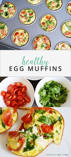 Breakfast is the most important meal of the day so fueling up with something healthy and nutritious is ideal. Today Im sharing a breakfast recipe that is just that. These healthy egg muffins are loaded with veggies high in protein and easy to make. Mediterranean Breakfast, Mediterranean Recipes, Healthy Breakfast Muffins, Healthy Egg Muffin Cups, Breakfast Egg Recipes, Meal Prep Breakfast, Veggie Egg Muffins, Egg White Muffins, Omelette Muffins