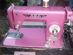 Vintage Pink MORSE Sewing Machine w/Cover Working Condition