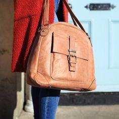 The Tan Aine leather handbag from the Nichola Jane Collection Tan Leather Handbags, Tan Handbags, Luxury Handbags, Leather Backpack, Leather Bag, Tan Tote Bag, Leather Handle, My Bags, Leather Shoulder Bag