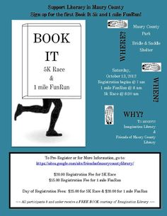 Book-It 5k & 1 Mile FunRun Benefit Set For Friends Of Maury County Library