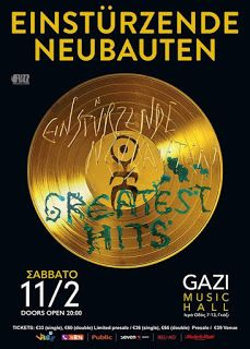 NYXTOΣΚΟΠΙΟ: Οι Einstürzende Neubauten επιστρέφουν στην Αθήνα http://nuxtoskopio.blogspot.gr/2016/11/einsturzende-neubauten.html
