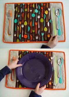 Table Setting Placemat Tutorial from Punkin Patterns