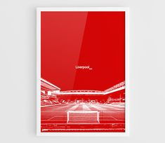 Liverpool FC Anfield Football Stadium Poster  A3 Wall Art