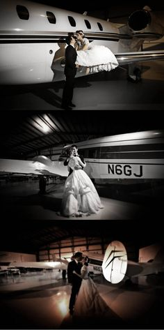 Airplane wedding