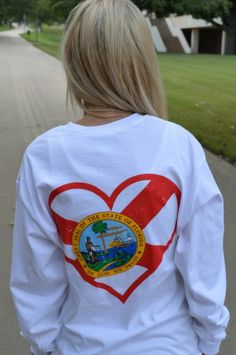 Florida Love in a long sleeve pocket!