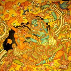 Mural Paintings of Kerala – About The Wonderful World Of Kerala Mural Paintings; and more specifically, the work of Naveen P B, an outstanding exponent of this art.