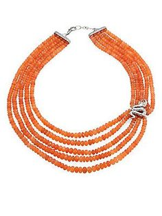 John Hardy Legends Cobra Peach Moonstone, Citrine & Sterling Silve