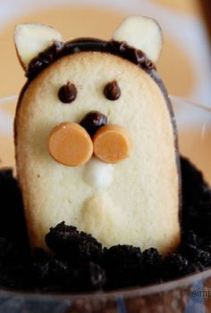 Make GROUNDHOG PUDDING CUPS