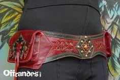Cuero cinturón utilidad HiPStaR alta calidad a mano por offrandes