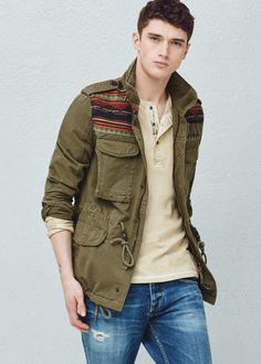 Field jacket jacquard | MANGO MAN
