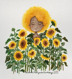 69 New Ideas Flowers Drawing Sunflower Yellow Sunflower Drawing, Sunflower Art, Drawing Flowers, Art And Illustration, Pencil Drawings, Art Drawings, Arte Inspo, Arte Popular, Mellow Yellow