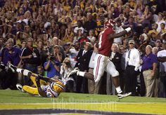11-03-12 -- Baton Rogue, La. -- Alabama running back T.J. Yeldon (4) breaks out for a touchdown to win the game in the fourth quarter of the Alabama vs. LSU NCAA college football game in Baton Rogue, LA Saturday, Nov. 3, 2012. Alabama beat LSU 21-17 in LSU. (Dusty Compton / Tuscaloosa News)...