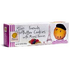 Biscuiterie Pierre French Butter Cookies with Mixed Berries 150g: $5.78