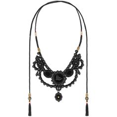 Gucci Velvet Necklace With Glass Pearls (5,625 MYR) ❤ liked on Polyvore featuring jewelry, necklaces, fashion jewellery, glass, jewellery & watches, pearl cord necklace, cord necklace, gucci necklace, vintage chain necklace and rose necklace