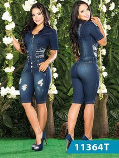 Get that classic casual look with these durable jeans for women. They look terrific that's always sweater. A slim design hugs your hips and to provide a close Denim Fashion, Girl Fashion, Fashion Dresses, Womens Fashion, Jeans Overall, Moda Jeans, Salopette Jeans, Summer Outfits, Cute Outfits