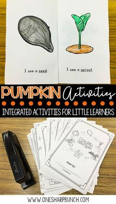 FREE life cycle of a pumpkin activities, including pocket chart sentences and sequencing printable. Perfect for your pumpkin investigations! Plus, we love the adorable pumpkin crafts! Name Activities, Sequencing Activities, Autumn Activities, Science Activities, Steam Activities, Reading Activities, Pumpkin Books, Pumpkin Crafts, Kindergarten Songs