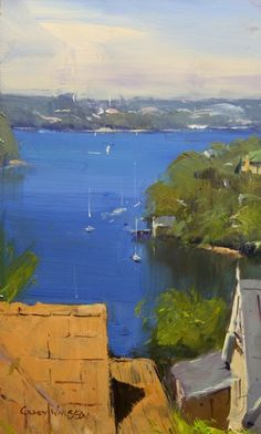 """Harbour View - NSW"" (11x06), by Colley Whisson"