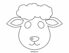 Printable Lamb Mask to Color