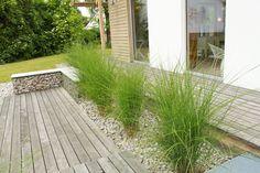 Idé for terrasse: separat spiseplass og salong med en liten seng? Outdoor Plants, Outdoor Gardens, Landscape Design, Garden Design, Narrow Garden, Succulent Gardening, Garden Architecture, Garden Living, Terrace Garden