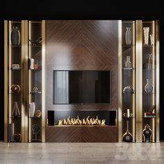 Living Room Partition Design, Living Room Tv Unit Designs, Room Partition Designs, Tv Wall Design, Tv Set Design, Tv Unit Decor, Tv Wall Decor, Fireplace Tv Wall, Modern Tv Wall Units
