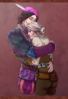 Jaskier and Ciri . They are cute ;)