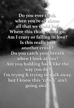 """love this song~""""Crush"""" by David Archuleta. Wow, amazing how a song can describe exactly how you feel!"""
