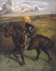 k details  Artist  Annie Louisa Swynnerton (1844‑1933)  Title  Miss Elizabeth Williamson on a Pony  Date  1906