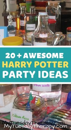 Harry Potter Party Ideas That Will Inspire You to Host the Most Amazing Harry Potter Birthday Party for Teens and Kids. Hogwarts potions class, yule ball, Diagon Alley... lots of fun ideas for your next Harry Potter Party. Halloween party idea.
