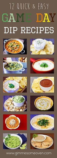 #Tailgates are all about the dips! Try one these 12 Easy #Gameday Dip #recipes.