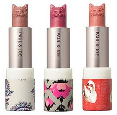 OH MY GOD CAT LIPSTICK! Paul &Joe makers of the Alice in wonderland lipstick as well. Love them!