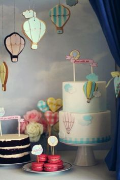 Hot Air Balloon inspired party (By The Little Big Company)