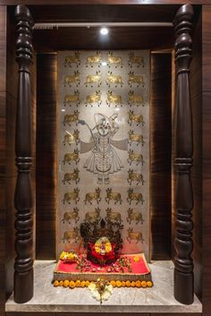 Traditional Styled Abode, - The Effective Pictures We Offer You About wooden doors interior A quality picture can tell you many things. You can find Pooja Room Door Design, Main Door Design, Wooden Door Design, Wooden Doors, Indian Home Interior, Indian Home Decor, Temple Room, Temple Design For Home, Mandir Design