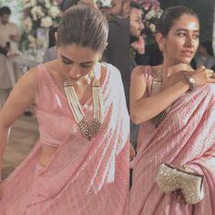 #Syrashahroz looks stunning in this Saree at a family wedding event in Karachi last night .