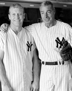 1963 Mickey Mantle Joe DiMaggio -, my dad taught me everything to know about baseball, the Yankees. the best players of all time, like these ! Go Yankees, New York Yankees Baseball, Sports Baseball, Baseball Players, Baseball Wall, Baseball Teams, Mlb Teams, Joe Dimaggio, But Football