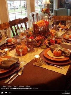 Fall Table Settings fall tablescape - love love this for any time of year! gorgeous