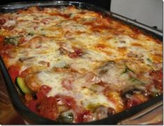 Pizza in a casserole.