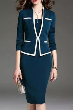Suits For Women, Clothes For Women, Cheap Clothes, Business Mode, Business Attire, Business Casual, Professional Dresses, Business Professional, Dress Silhouette