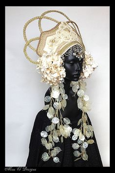 MADE TO ORDER Empress Headdress by MissGDesignsShop on Etsy #snow queen