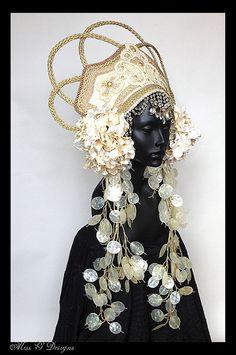 MADE TO ORDER Empress Headdress by MissGDesignsShop on Etsy