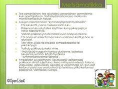 Metsämatikka - openideat.blogspot.com Word Search, Science, Teaching, Words, Maths, Outdoors, Flag, Learning, Exterior