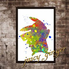 Pokemon Pikachu Poster Anime Watercolor Home Decor by juicyginger