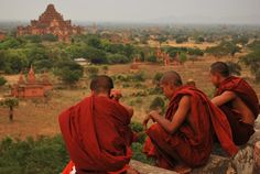 Monks, Myanmar (Burma)  #travel #southeastasia #landscapes #people