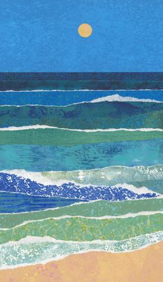 Moon the Color of Sand II by Suzanne Siegel - Small (Giclee Print)