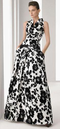 15 Trendy Ideas For Dress Wedding Godmother Evening Gowns White Evening Gowns, Evening Dresses, Prom Dresses, Summer Dresses, Black And White Long Dresses, Black Wedding Dresses, Dress Wedding, White Fashion, Look Fashion