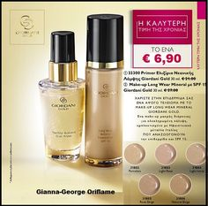 Oriflame Giordani Gold Elixir Primer Mineral Therapy Foundation Natural Beige for sale online Long Lasting Foundation, Natural Foundation, Mineral Foundation, Make Up Gold, Oriflame Cosmetics, Your Skin, Minerals, Perfume Bottles, Therapy
