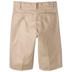 Dickies Boys' Relaxed Fit Flexwaist Shorts w/ Extra Pocket - Khaki (Green) 16